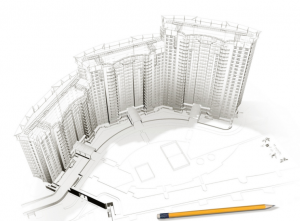 Изображение вертикальных конструкций